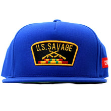 "Load image into Gallery viewer, ""U.S.Savage"" Snapback (Royal)"