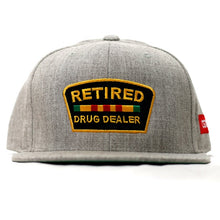 "Load image into Gallery viewer, ""Retired Drug Dealer"" Snapback in Heather"