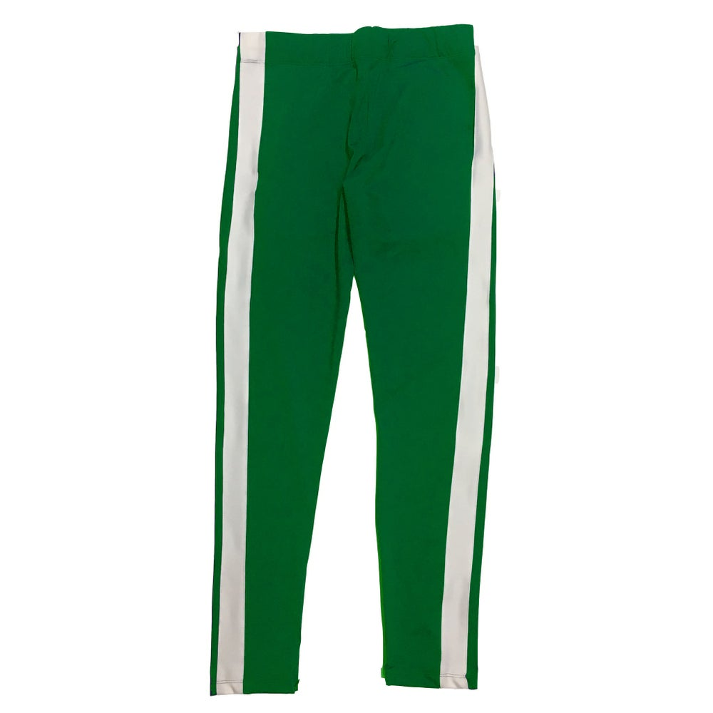 Green | White - Techno Track Pants