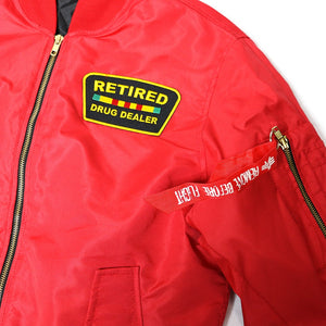 """Retired Drug Dealer"" Bomber in Red"