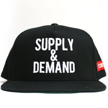 "Load image into Gallery viewer, ""Supply & Demand"" Snapback (Black)"