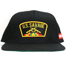 "Load image into Gallery viewer, ""U.S.Savage"" Snapback (Black)"