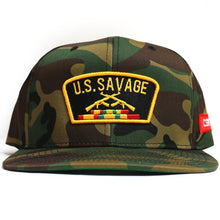 "Load image into Gallery viewer, ""U.S.Savage"" Snapback (Camo)"