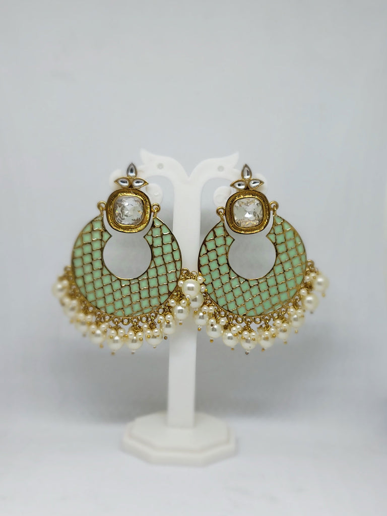 The Mint Green Chandbali
