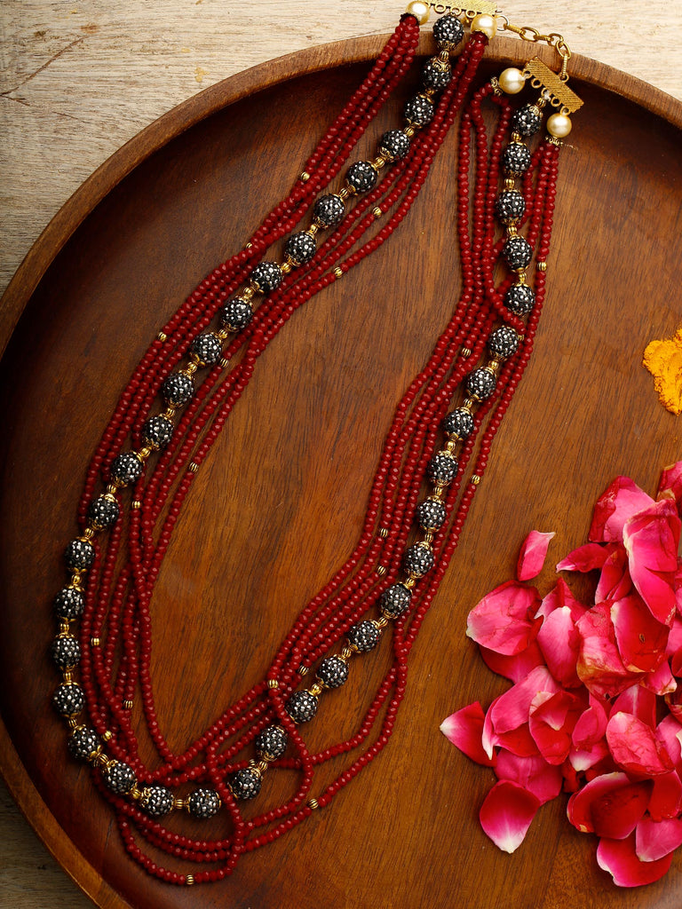 Red & Grey Neckpiece
