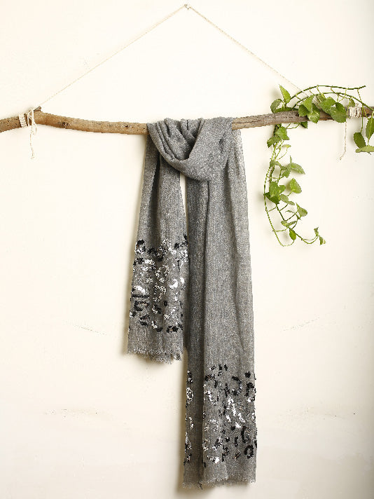 Grey Stole with sequence