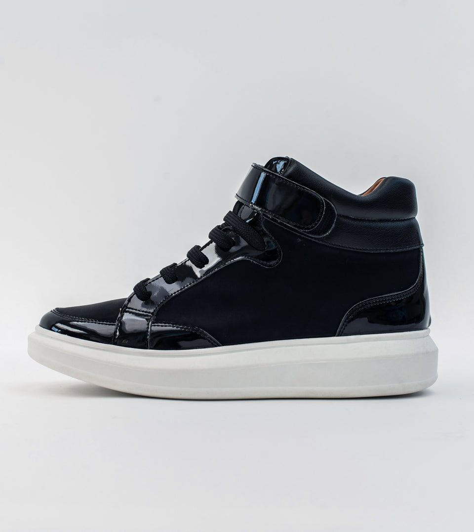 Alicia high top black shine vegan trainer Trainer Allkind Vegan