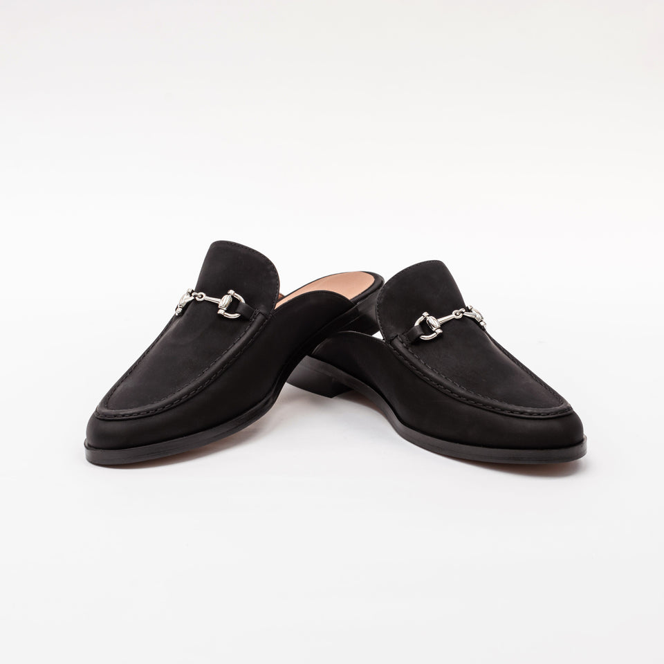 Elle Black Vegan Suede Slip On Loafer Loafer Allkind Vegan