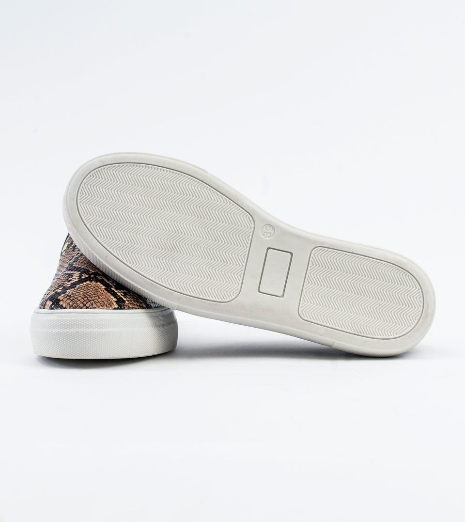 Hayley Stud Detail Brown Vegan Slip On Trainer Trainer Allkind Vegan