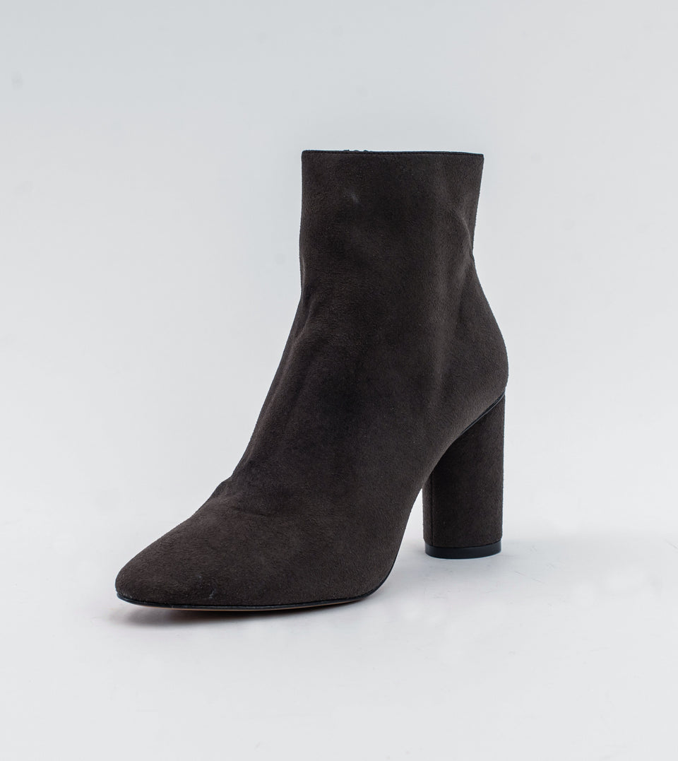 Isabella brown suede vegan heeled ankle boot Ankle boot Allkind Vegan