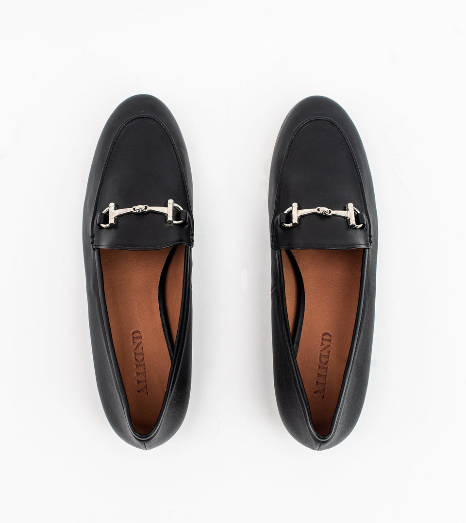 Jessica black leather vegan snaffle loafer Loafer Allkind Vegan