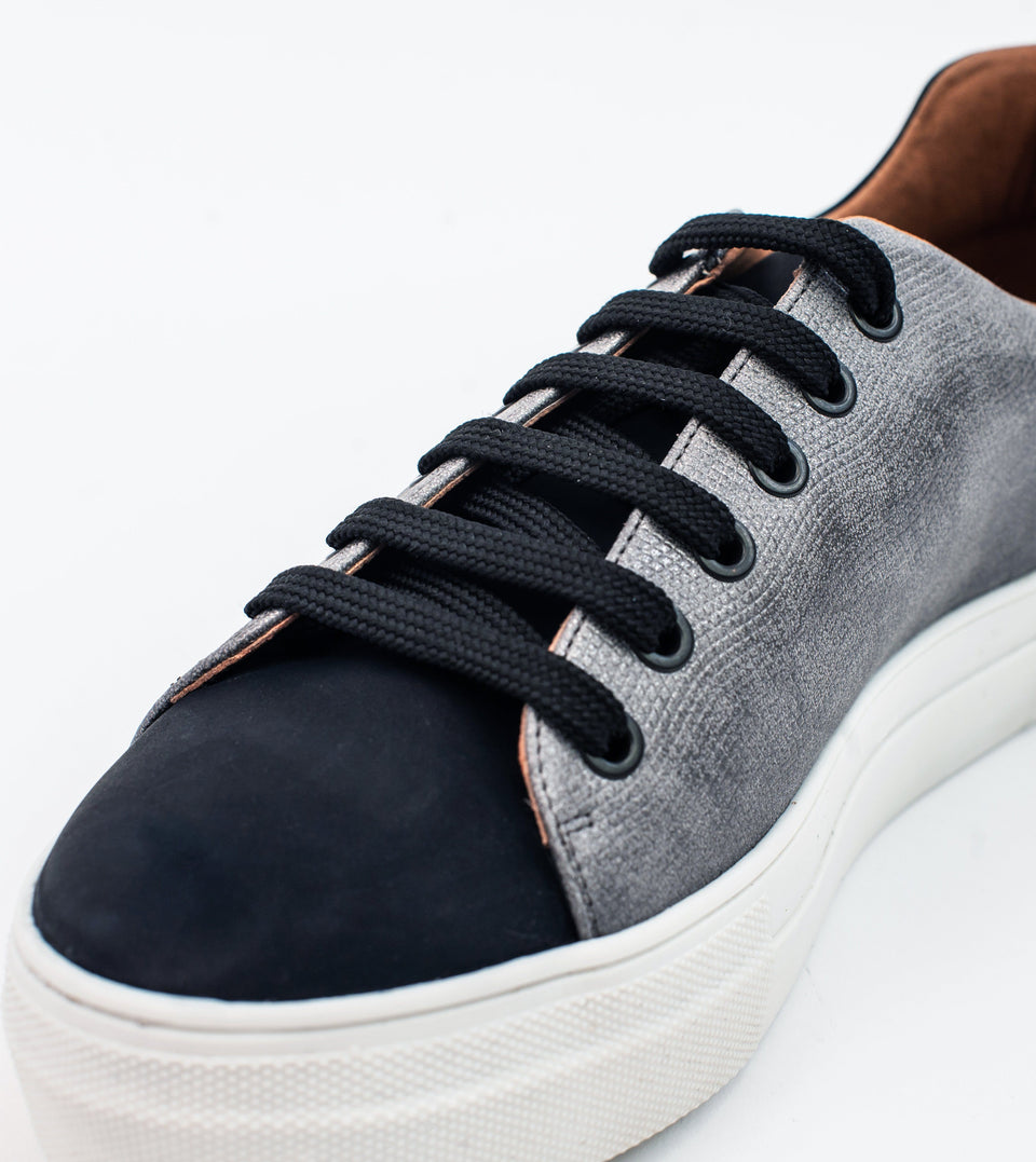 Lucy grey leather vegan lace trainer Trainer Allkind Vegan