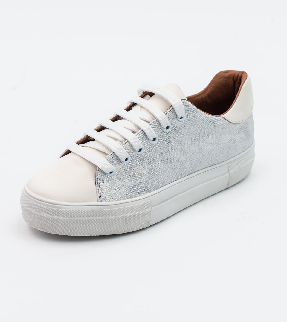 Lucy white leather vegan lace trainer Trainer Allkind Vegan
