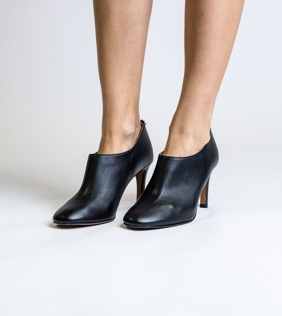 Olivia black leather vegan shoeboot Shoeboot Allkind Vegan