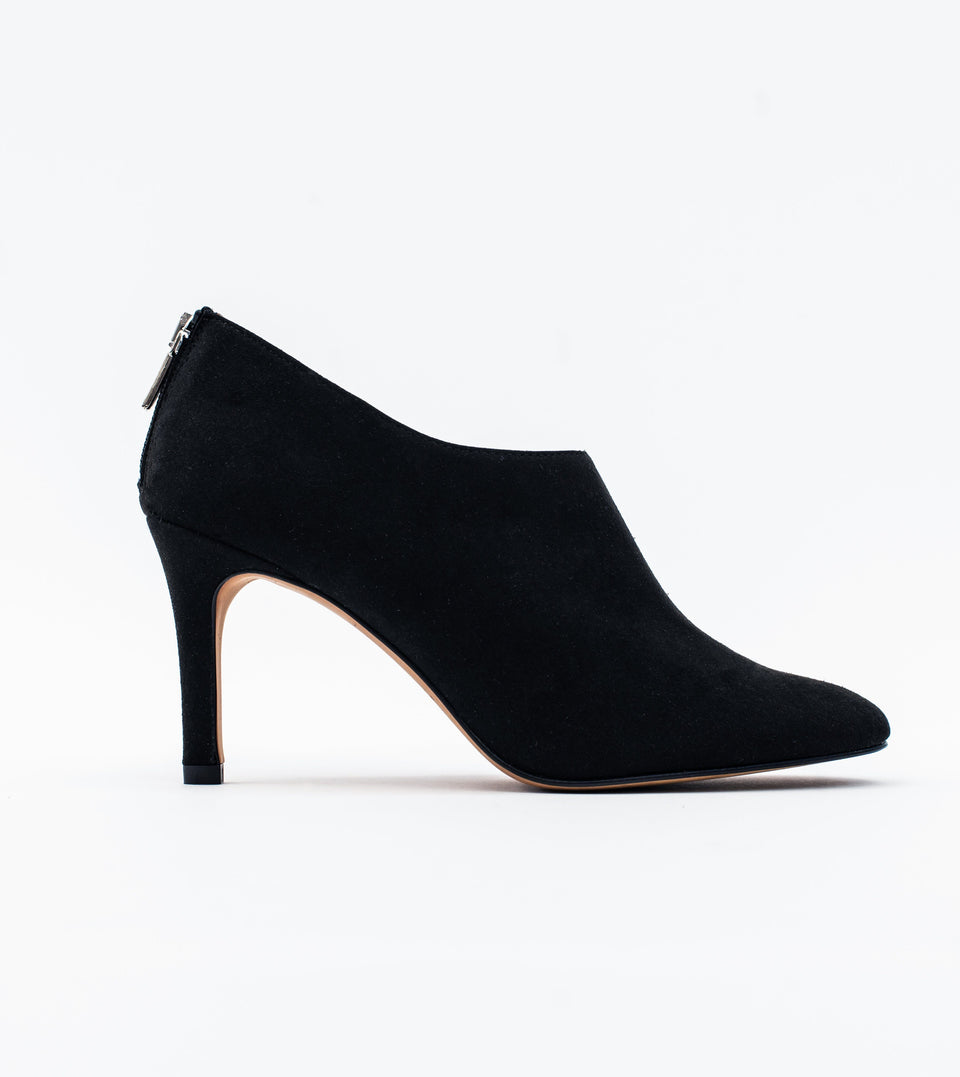 Olivia black suede vegan shoeboot Shoeboot Allkind Vegan