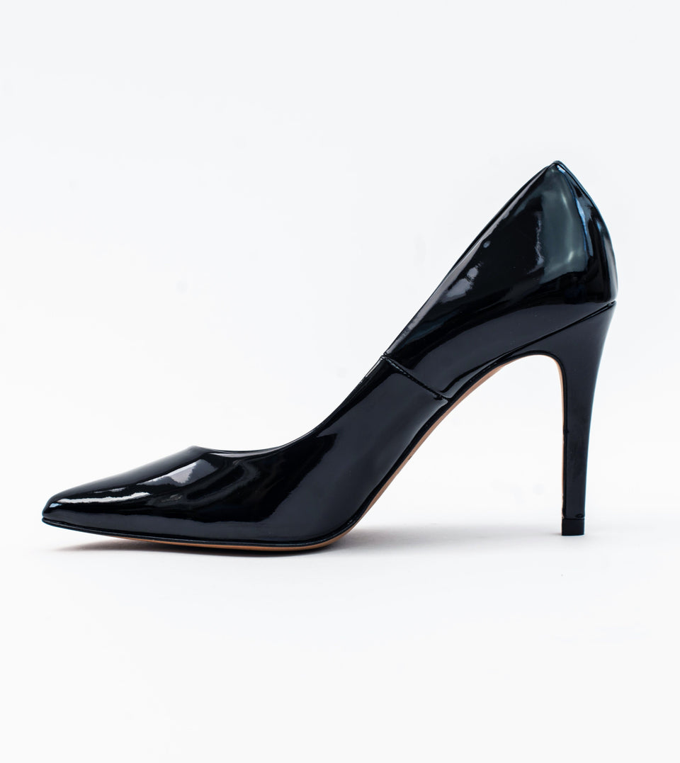 Sophie Black Vegan Patent Stiletto Court Stiletto court Allkind Vegan