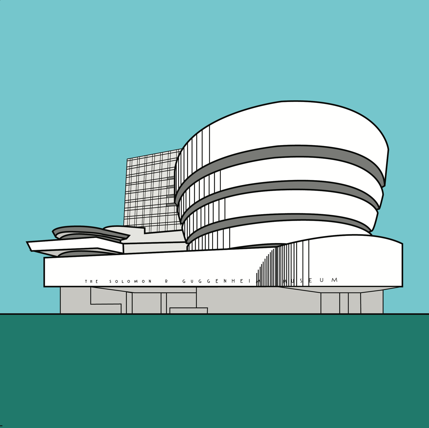 Guggenheim New York Frank Lloyd Wright (unframed)