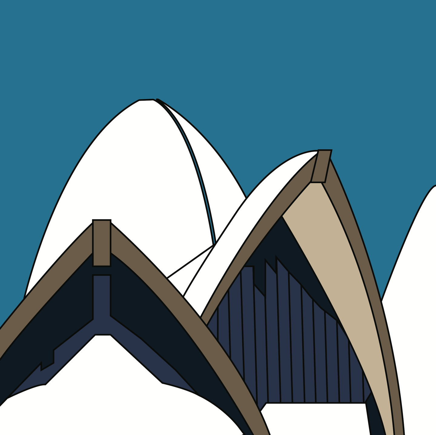 Opera House Front Elevation (unframed)