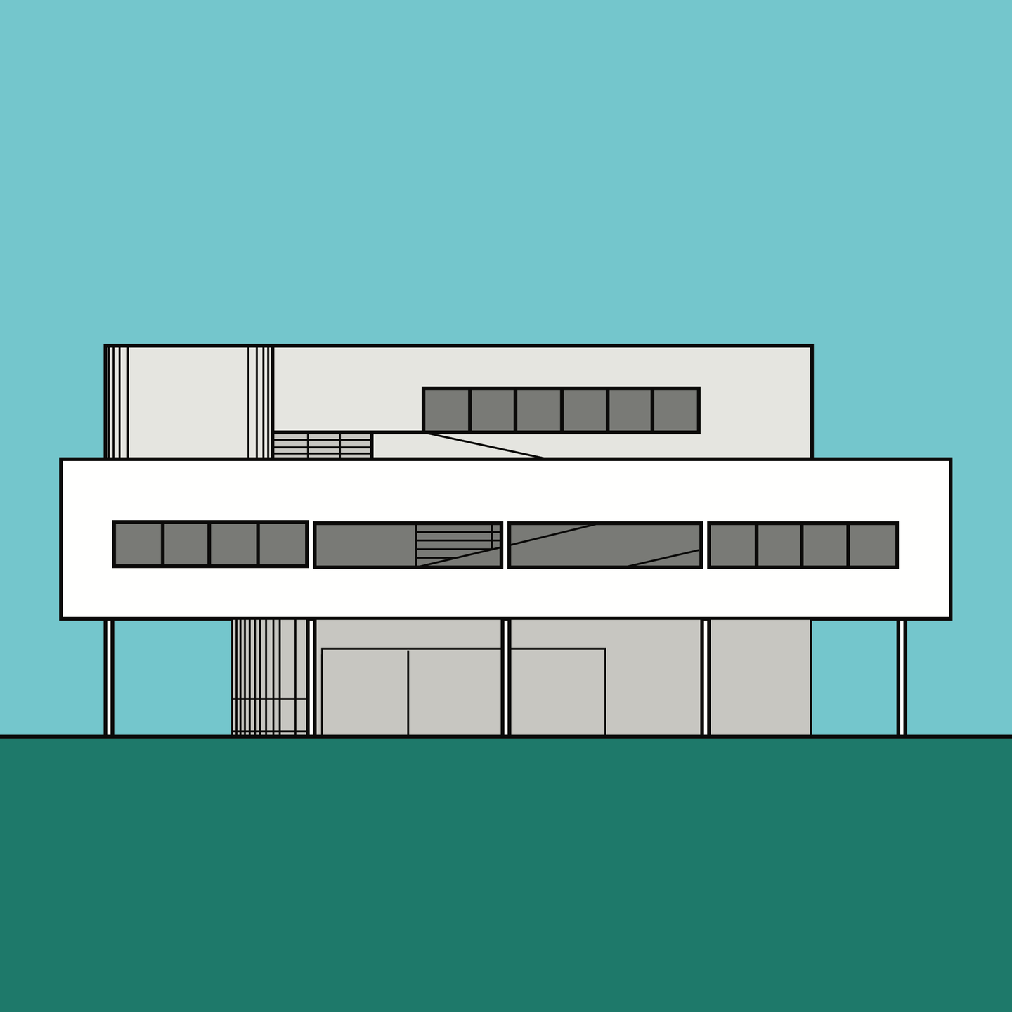 Villa Savoye Paris Le Corbusier (unframed)