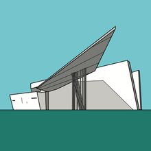Load image into Gallery viewer, Vitra Fire Station Germany Zaha Hadid (unframed)