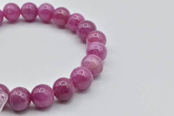 CERTIFIED Natural Ruby beaded bracelet (8.5mm)