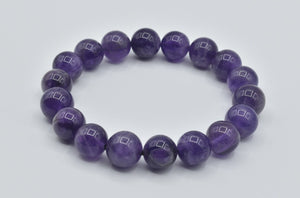 Natural Amethyst bead bracelet (12mm)