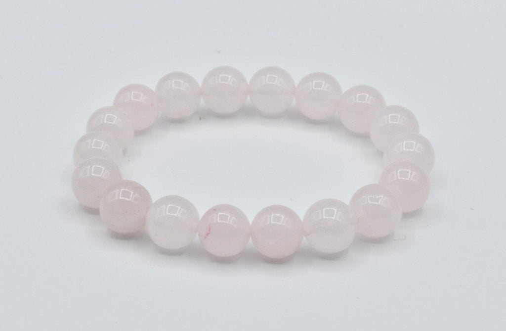 Natural Rose Quartz Beaded Bracelet (10.5mm)