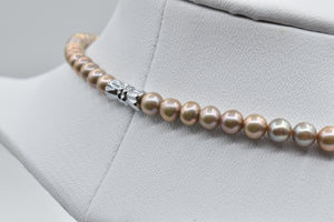 Golden Freshwater pearl necklace (5.0-6.0mm)