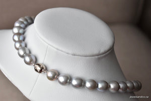 Silver Edison Freshwater Pearl Necklace, 10.5-11.5mm