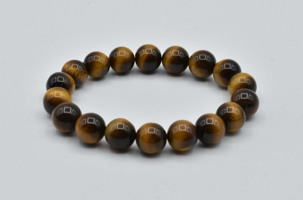 Natural Brown Tiger Eye Bead Bracelet (10.5mm)