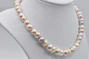 Pink gourd shaped Freshwater pearl necklace (8.5-12.5mm) - 16 inches