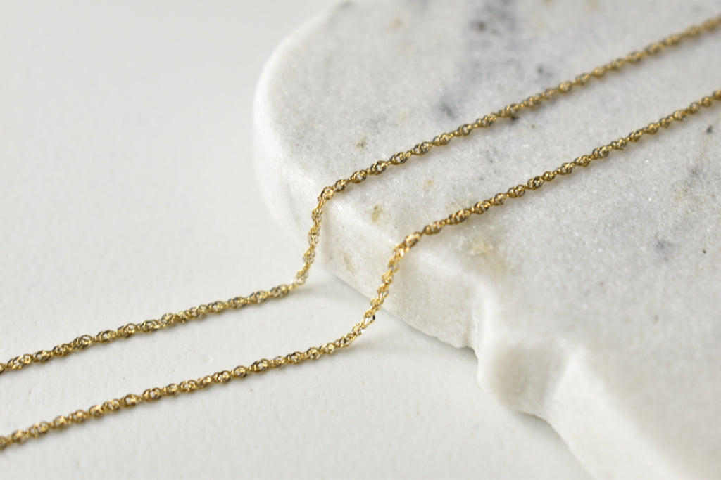 Two-Tone Necklace Chain in 18K Italian Yellow and White Gold