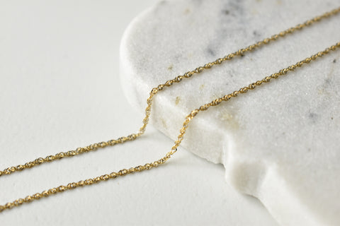 *****SOLD***** Two-Tone Necklace Chain in 18K Italian Yellow and White Gold