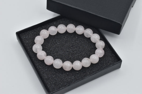 *****SOLD***** Natural Rose Quartz Beaded Bracelet (10.5mm)