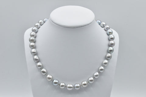 Silver Freshwater Pearl Necklace (10.5-11.5mm)
