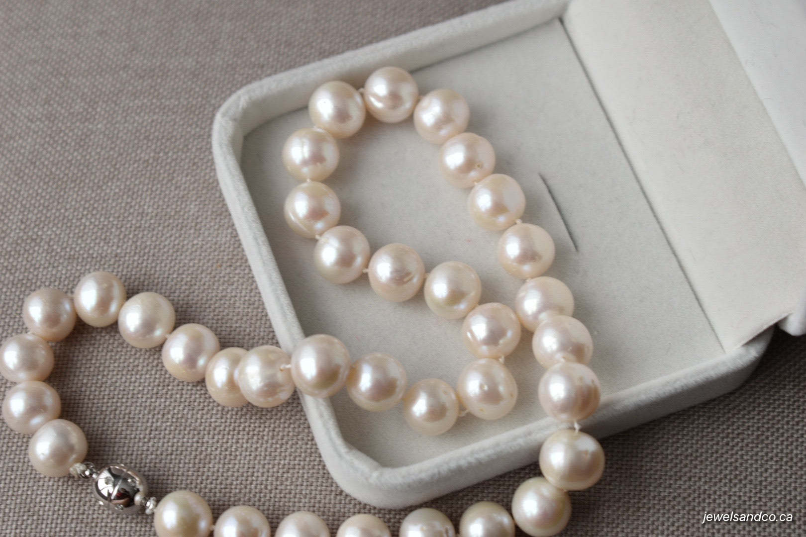 White Freshwater Pearl Necklace, 11.5-12mm