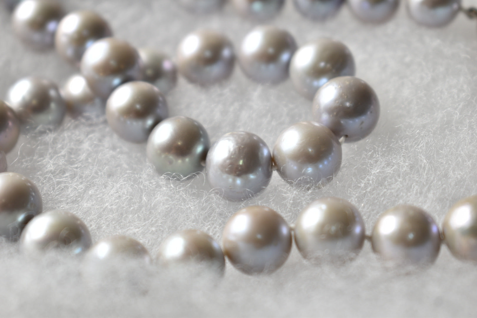 Silver Gray Freshwater Edison Pearl Necklace, 10.75-11.75mm