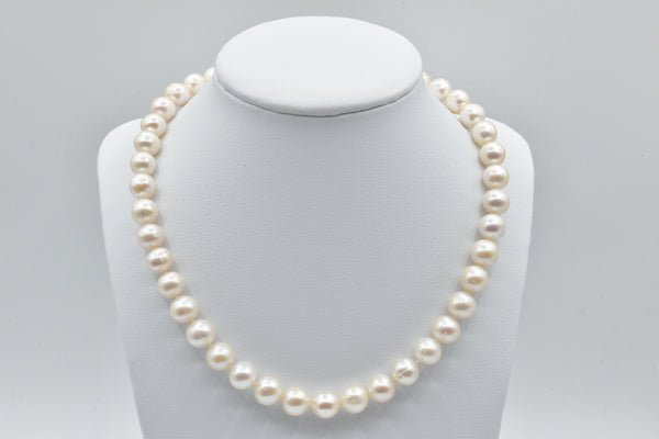 White Freshwater pearl necklace (9.5-10.5mm)