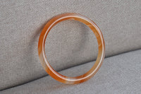54.38mm Natural Orange Agate Round Bangle