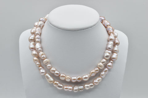 Pink Freshwater baroque pearl necklace (9.0-13.0mm) - 31.5 inches