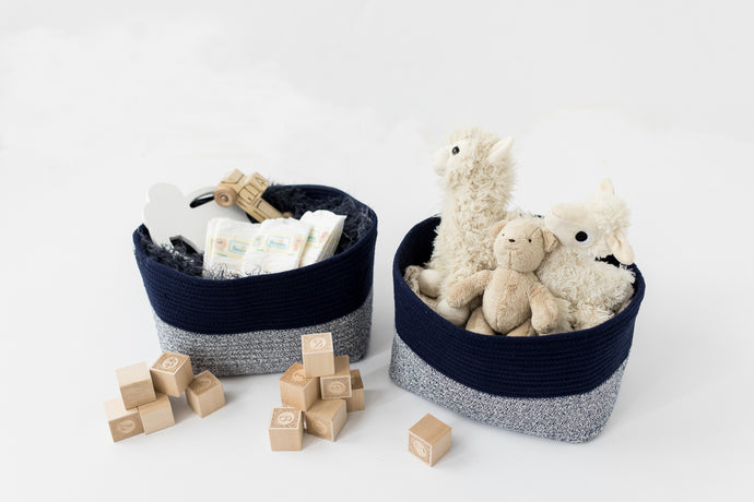 Decorative Cotton Rope Basket Bins