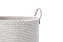 Load image into Gallery viewer, Large Cotton Rope Basket with Braided Rim and Handle