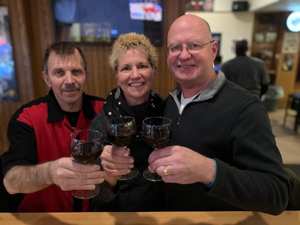 From Left to right; Bob, Lisa and John. The team behind WineGrasp!