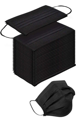 Black 50-pc Disposable Masks
