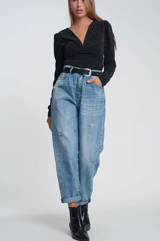 Straigh Cut Baggy Jeans