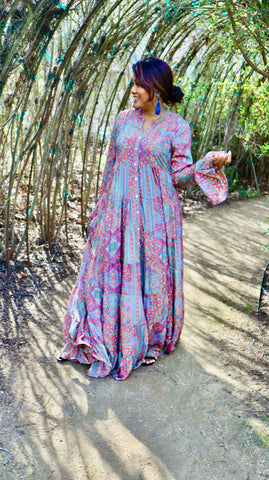 Chela Long Sleeve Maxi Dress