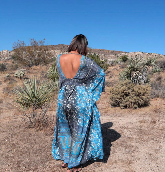 Butterfly Long Kaftan Dress