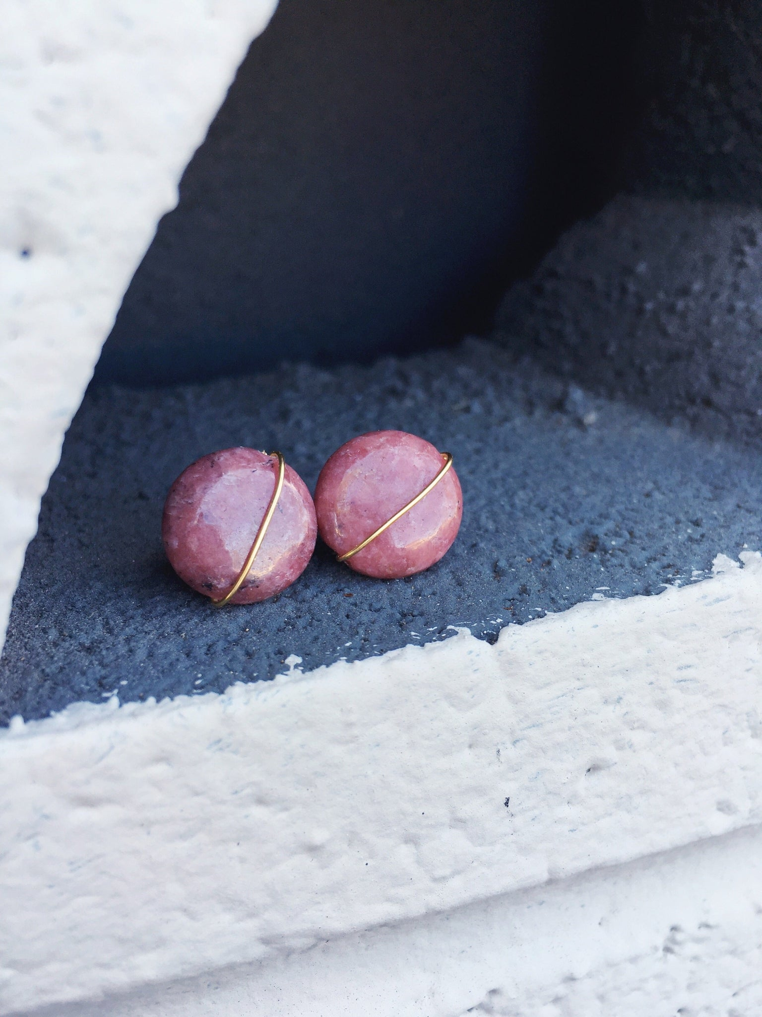 Rhodonite Pair Earrings