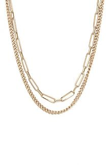 Eli Double Chain Necklace