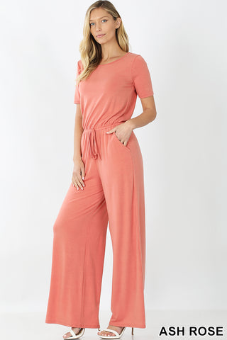 T-shirt Wide Leg Jumpsuit